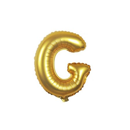 Gold Foil Balloon Number G Inflated Float Helium Balloon 16 inch Kids Fun Toys