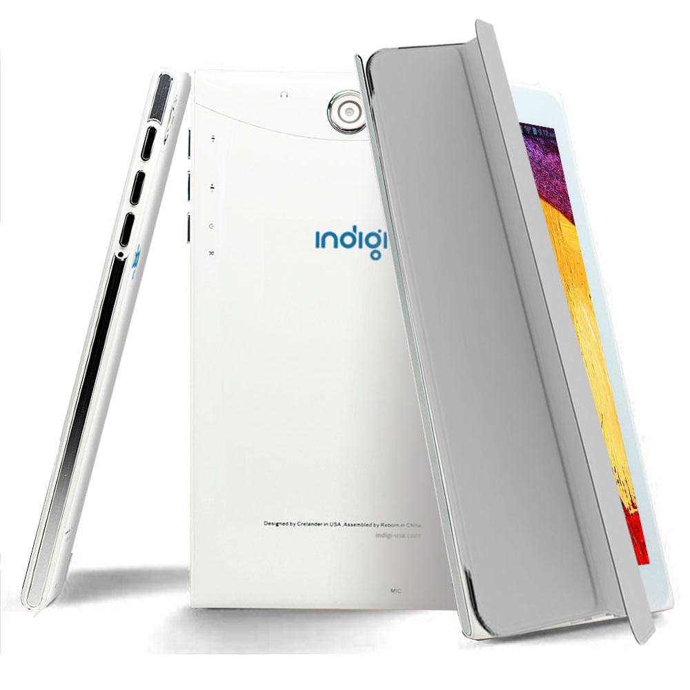 """Indigi® 7"""" 3G Factory Unlocked 2-in-1 Android 6.0 SmartPhone & TabletPC w/ Built-in Smart Cover + 32gb microSD(Grey) - image 4 de 5"""
