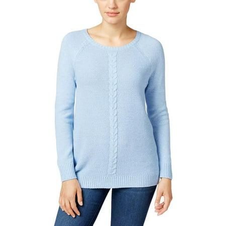 Womens Waffle Cable Knit Sweater Walmart