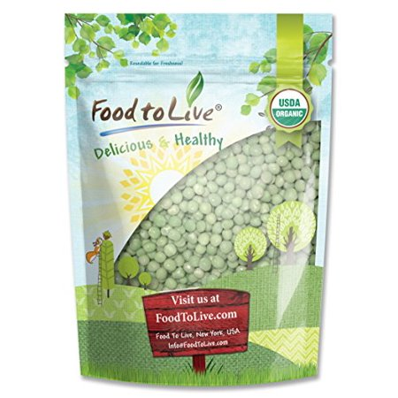 Organic Whole Green Peas, 2.5 Pounds - Dry, Kosher, Non-GMO, Raw, Sproutable, Vegan - by Food to (Organic Green Pea)