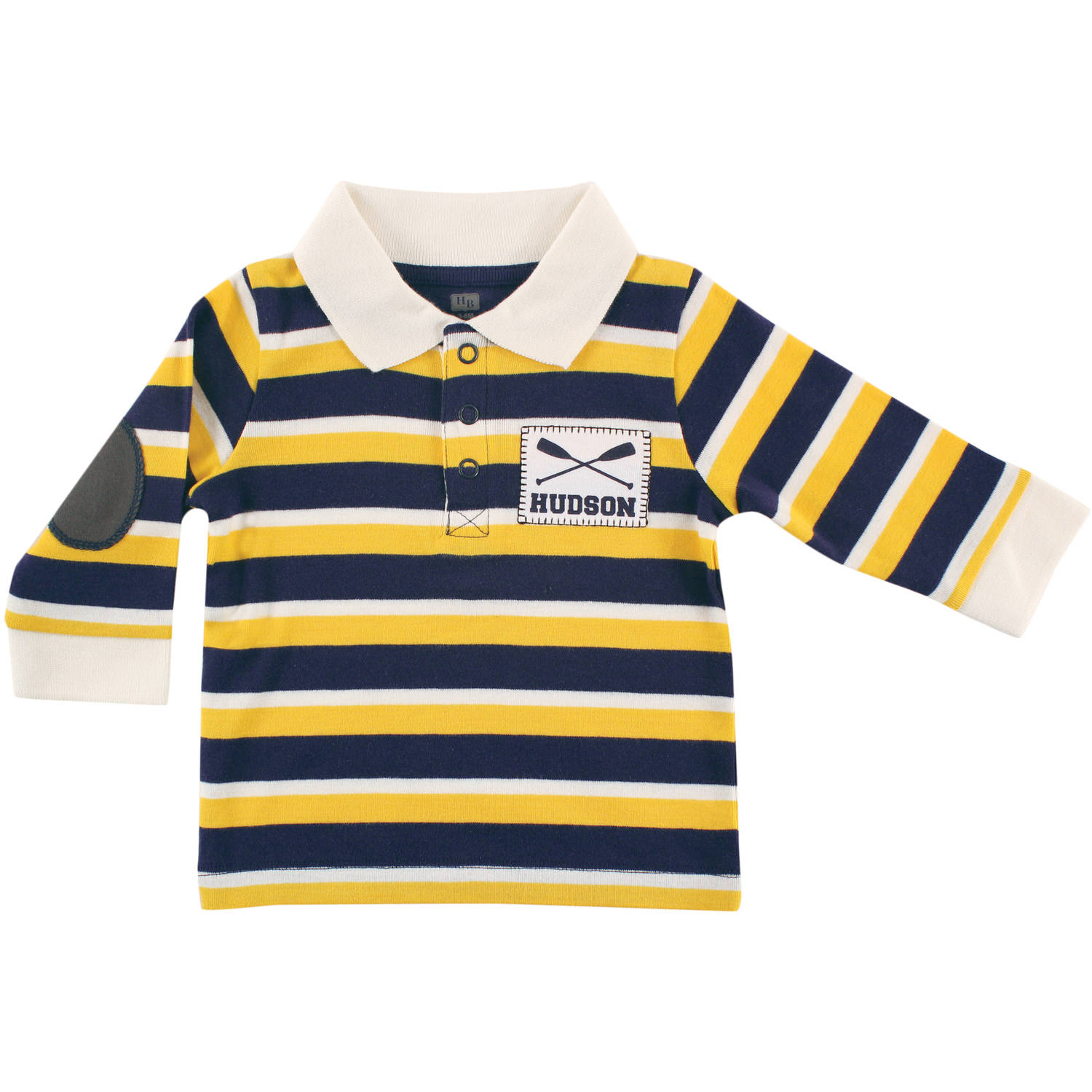 Hudson Baby Newborn Baby Boys Long Sleeve Rugby Shirt - Rowing
