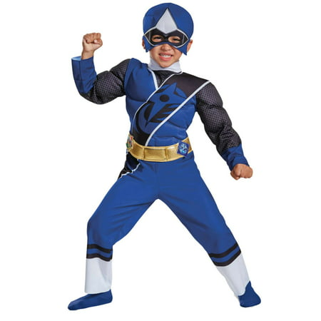Toddler Boys Power Rangers Ninja Steel Blue Ranger Muscle - Buy Power Rangers Costume