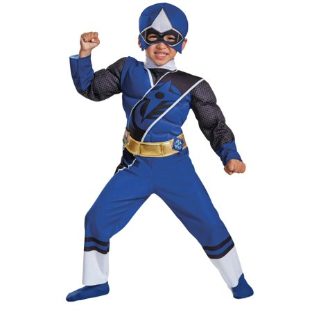 Power Ranger Blue Costume (Toddler Boys Power Rangers Ninja Steel Blue Ranger Muscle)