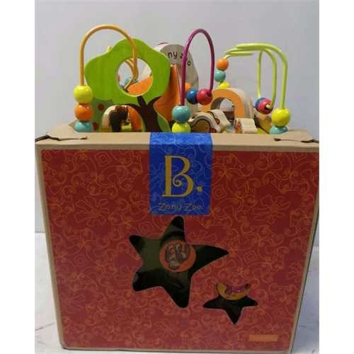 B. Zany Zoo Wooden Activity Cube for Children Ages 1 to 3 by B.