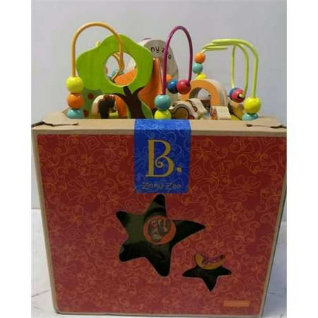 B Zany Zoo Wooden Activity Cube For Children Ages 1 To 3