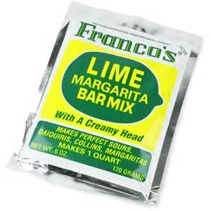 Cocktail Mix Franco's Lime Bar Mix 6 Oz. Single Pouch  1 Quart, USA, Brand Bottles-Up by