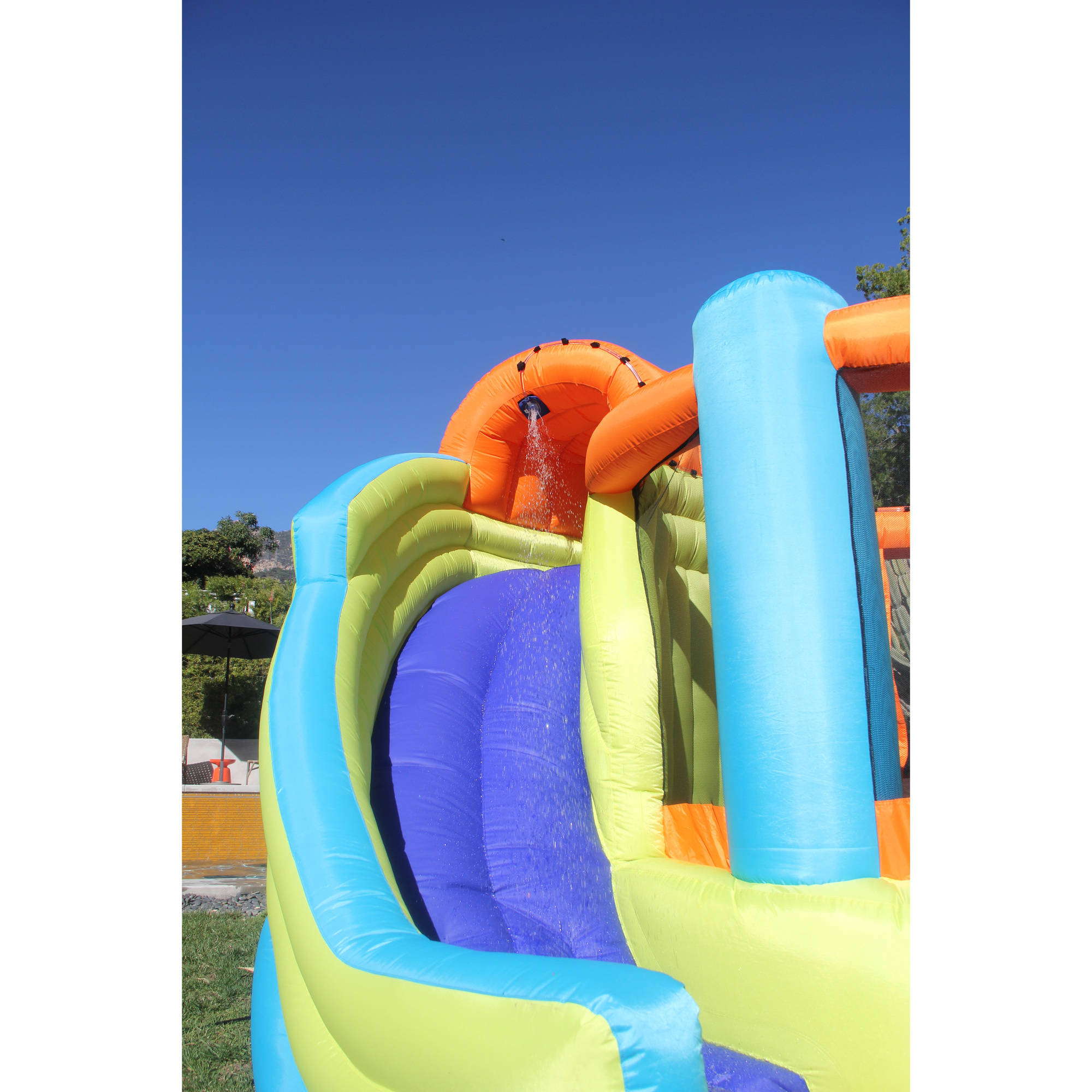 Inflatable Water Slide sportspower double slide and bounce inflatable water slide