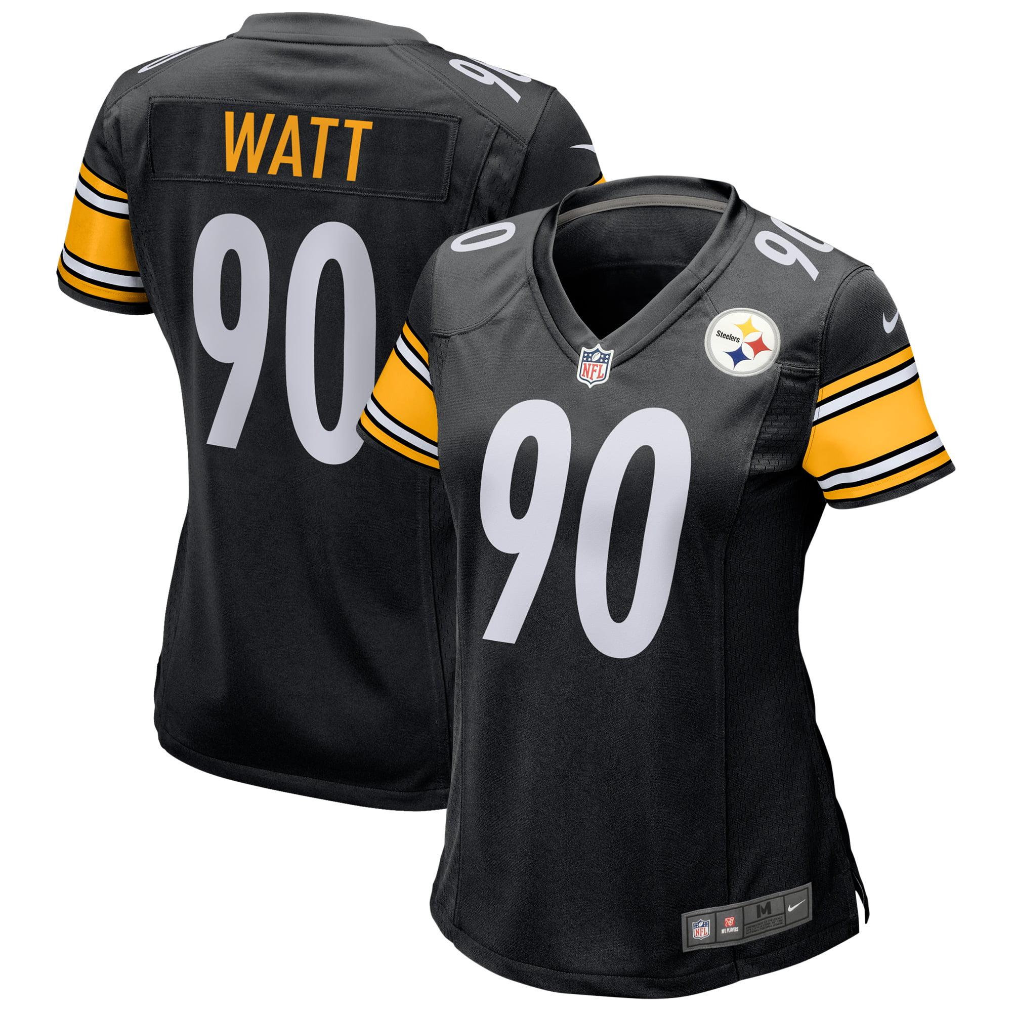 detailed look 62a1c 46c6f T.J. Watt Pittsburgh Steelers Nike Women's Game Jersey - Black