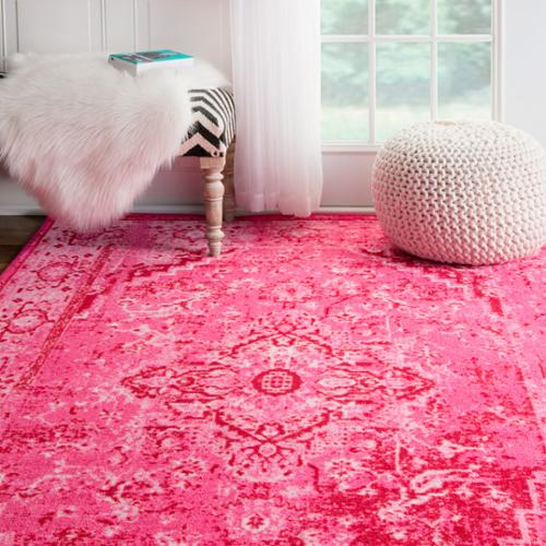 nuLOOM Traditional Vintage Inspired Overdyed Fancy Pink Area Rug (4' x 6')