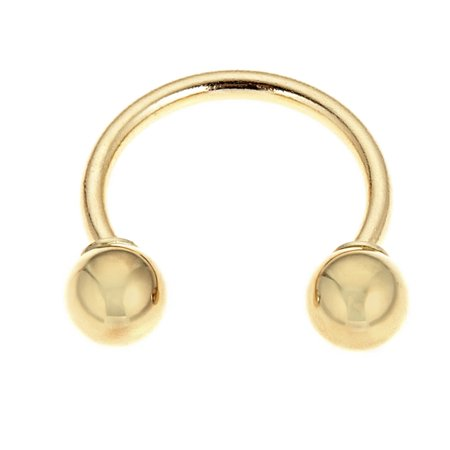 14k Solid Gold Eyebrow Circular Barbell HorseShoe Body Jewelry 16 Gauge Circular Horseshoe Barbell Body Jewelry