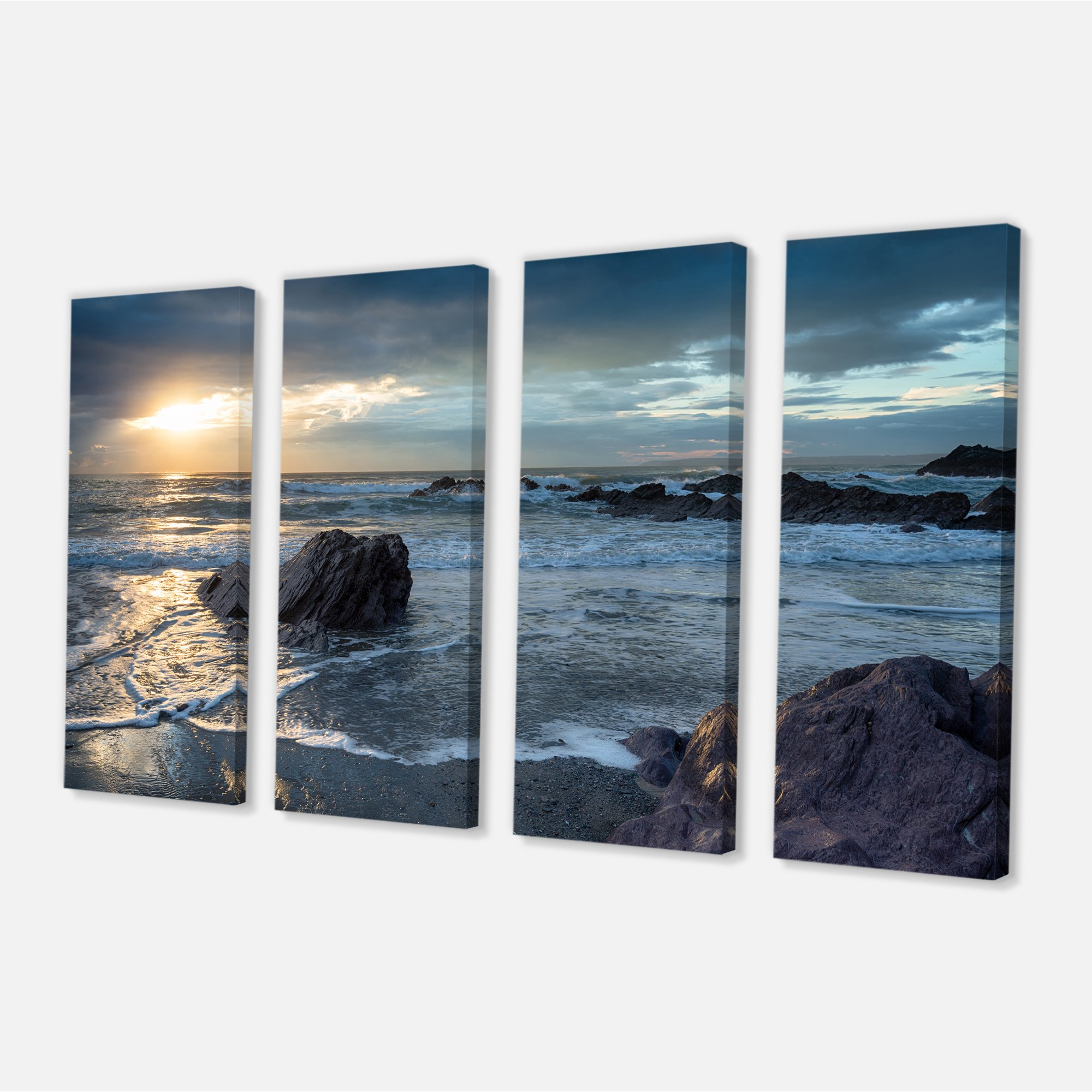 Sharrow Beach In Cornwall Seashore Canvas Art Print Walmart Canada
