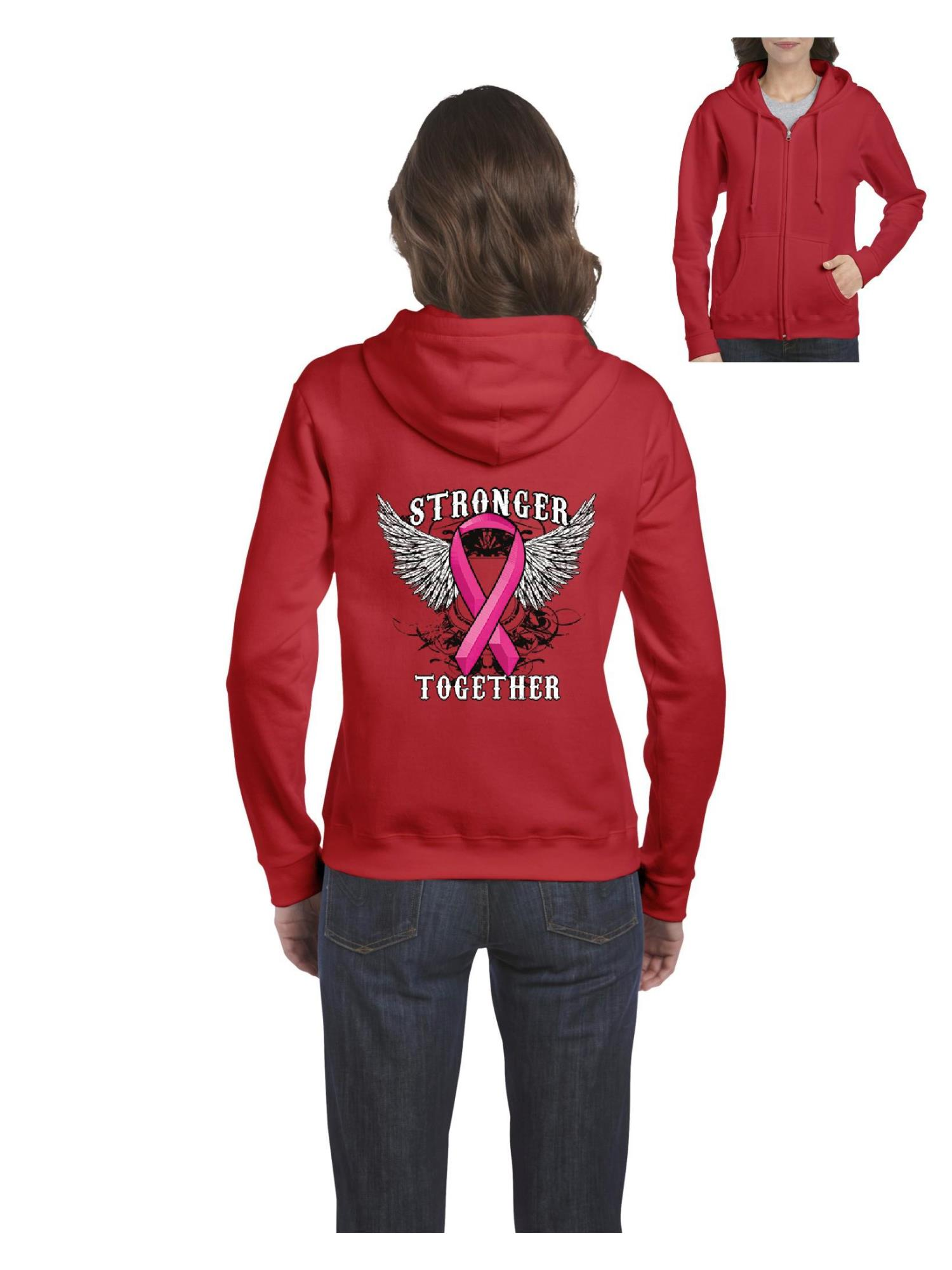 Stronger Together Hoodies Breast Cancer Awareness Sweatshirts
