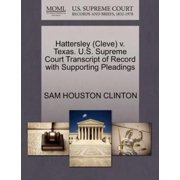 Hattersley (Cleve) V. Texas. U.S. Supreme Court Transcript of Record with Supporting Pleadings