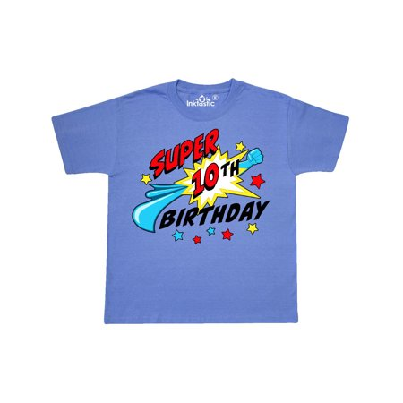 Super 10th Birthday- ten years old Youth T-Shirt (Cute Crop Tops For 10 Year Olds)