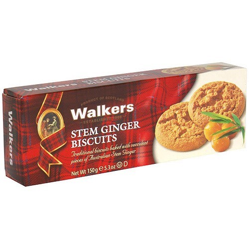 Walkers Stem Ginger Biscuits Cookies, 5.3 oz (Pack of 12)
