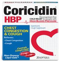 Coricidin Hbp Chest Congestion And Cough Non-Drowsy Liqui-Gels - 20 Ea, 3 Pack