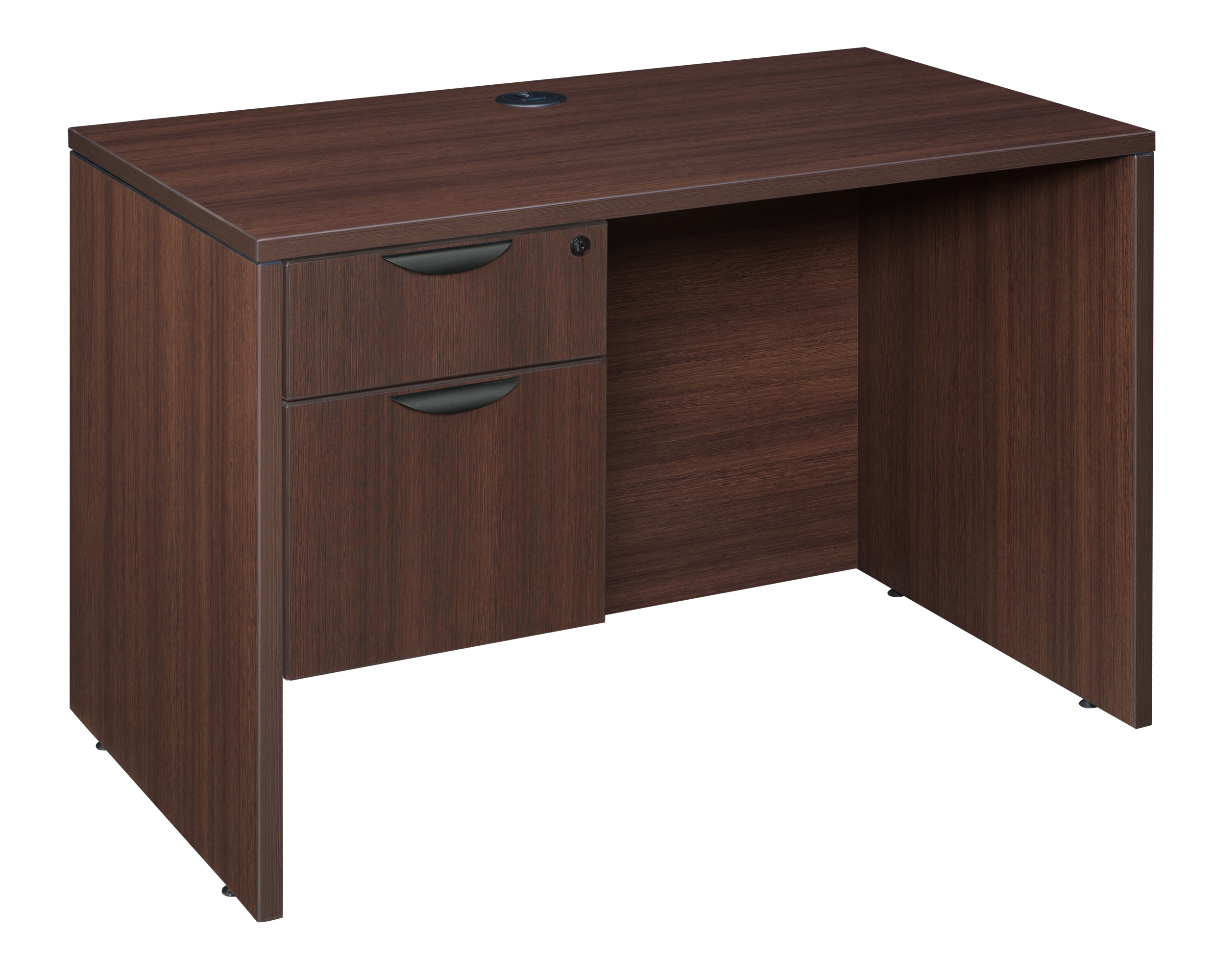 Legacy 42 Single Pedestal Desk Java Walmart com