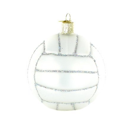 Volleyball Glass Blown Ornament, Hand crafted in age-old tradition using techniques that originated in the 1800's By Old World Christmas Ship from US (Glass Ornaments For Crafts)