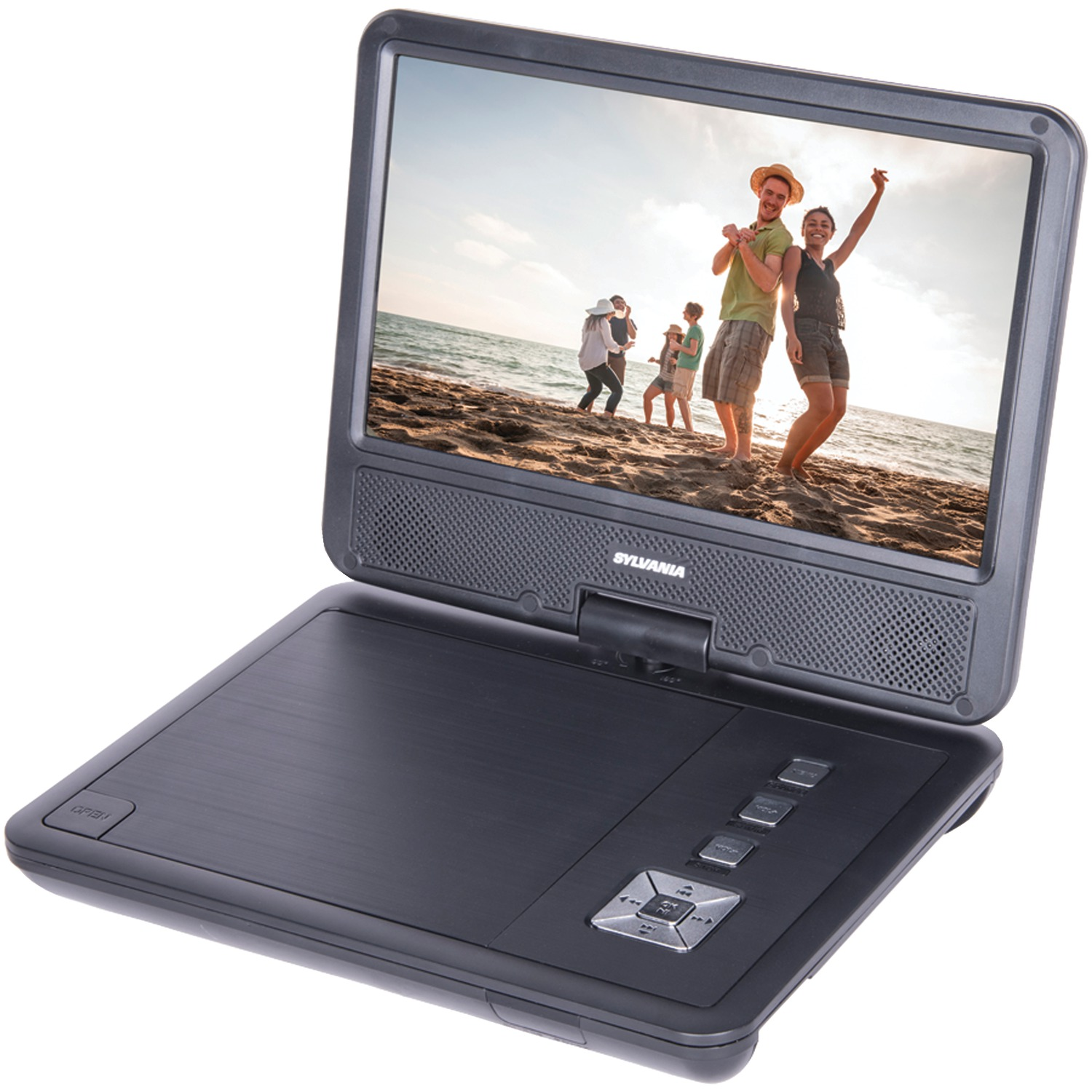 """Sylvania Sdvd9070 9"""" Swivel-screen Portable Dvd & Media Player With Earphones With 5-hour Battery"""