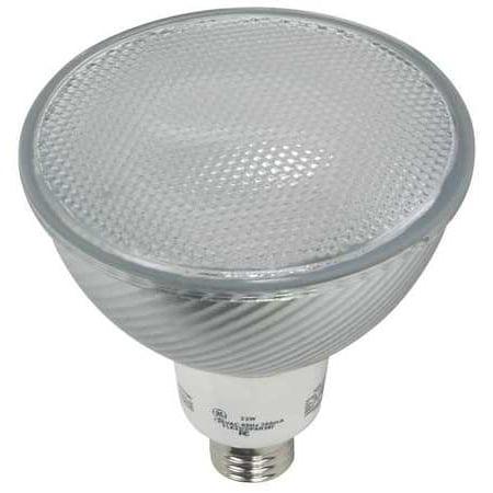 - GE LIGHTING Screw-In CFL,Non-Dimmable,2700K,PAR38 FLE23/2PAR38FLCD