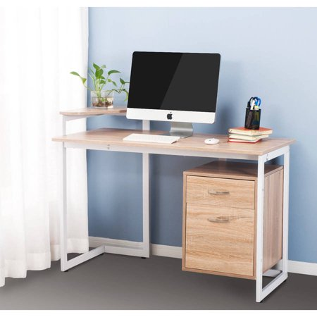merax stylish computer desk home and office table. Black Bedroom Furniture Sets. Home Design Ideas