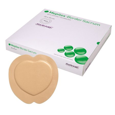 Mepilex Border Sacrum Foam Dressing, 72 X 72 Inch, Sterile Box Of