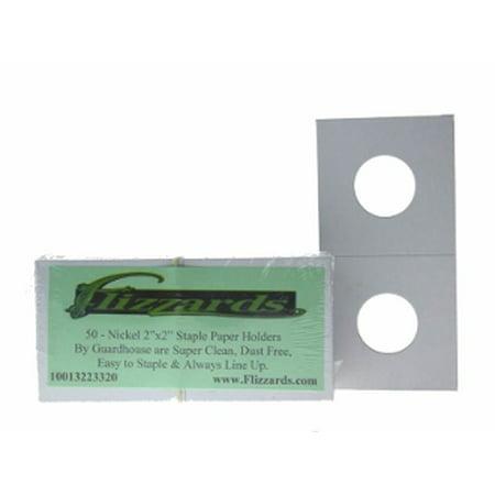 Guardhouse 2x2 Nickel-21.2mm, Mylar Staple Paper Holders, 500