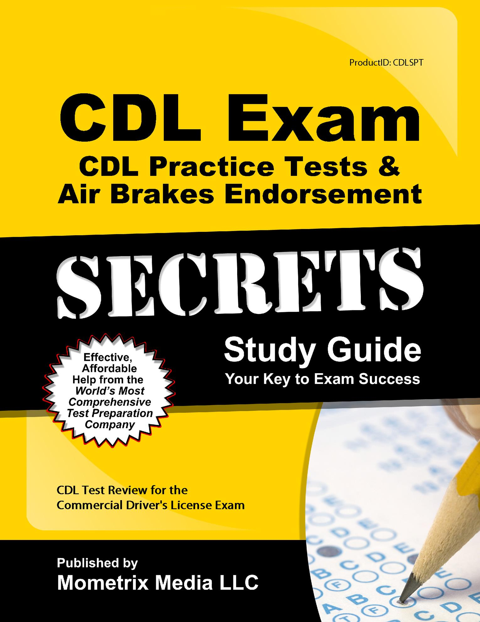 cdl exam secrets cdl practice tests air brakes endorsement study rh walmart com commercial driver's license study guide illinois commercial drivers licence study guide