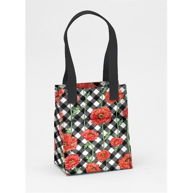 Joann Marrie Designs NLB2PC Large Lunch Bag - Poppy Chic, Pack of 2