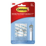 Command Clear Medium Wire Toggle Hooks with Clear Strips