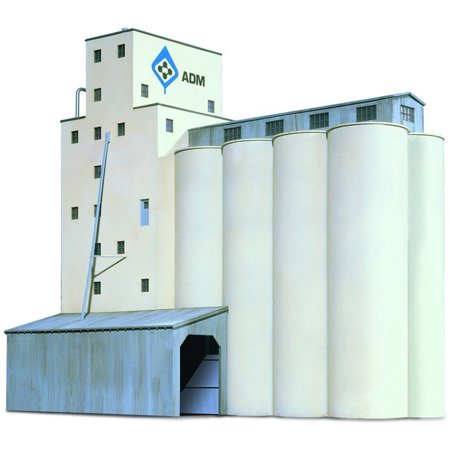 Walthers Cornerstone N Scale Building/Structure Kit Concrete ADM Grain Elevator - Elevator Toy