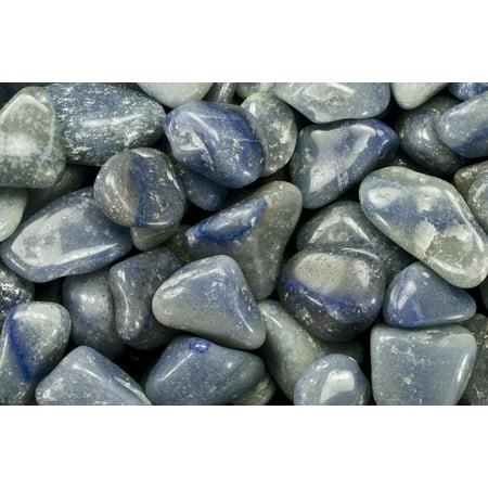 Fantasia Crystal Vault: 3 lb Blue Quartz Tumbled Stones - Medium - 1