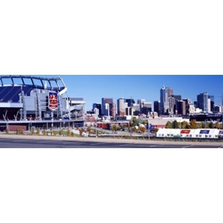 Stadium in a city Sports Authority Field at Mile High Denver Denver County Colorado USA Poster Print ()