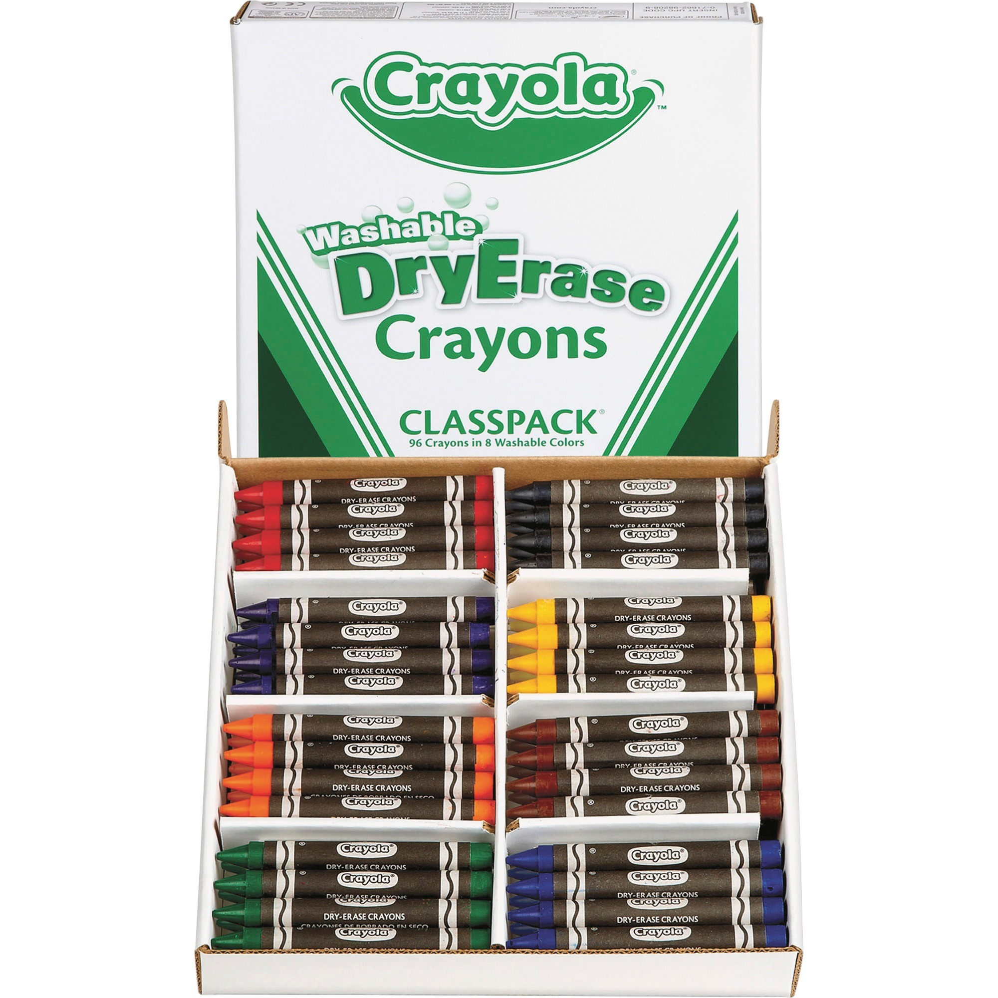 Crayola Washable Dry Erase Crayons, Classpack, Assorted Colors, 96 Count