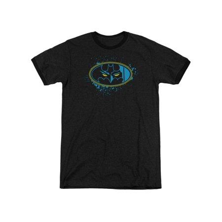 Batman DC Comics Eyes In The Darkness Adult Ringer T-Shirt Tee ()