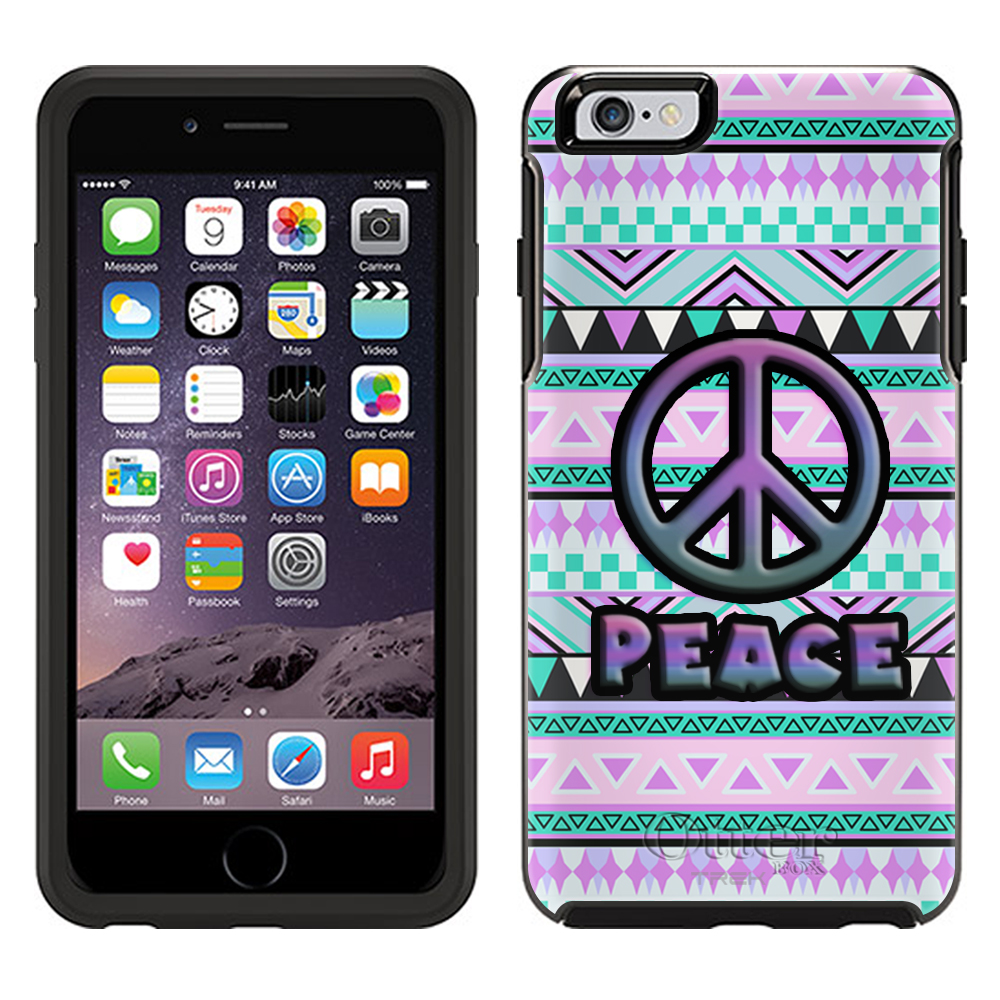 OtterBox Symmetry Apple iPhone 6 Case - Peace on Aztec Andes Mauve Teal OtterBox Case