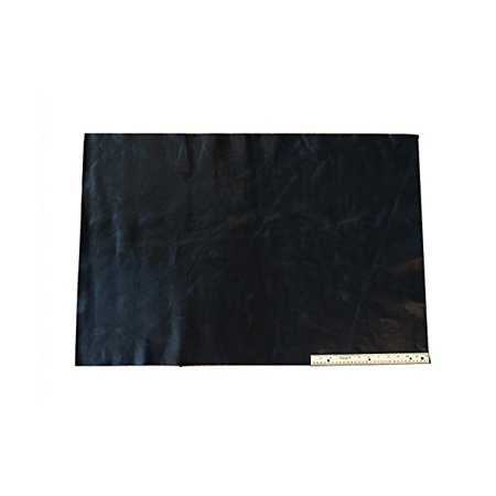 Upholstery Leather Piece Cowhide Black Light Weight 2 x 3 Feet, 6 Square