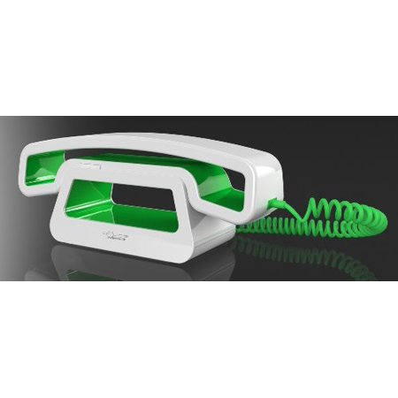 Swissvoice Epure Corded Hanset Ch01  Siri Integration And Home Base   White Green