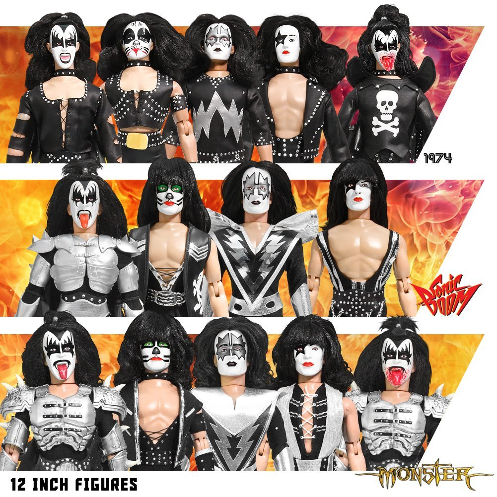 Complete Set of 14 KISS 12 Inch Action Figures: Series 2-...
