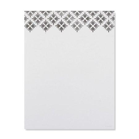 Gartner Studios Modern Damask Silver Foil Stationery, 40 count