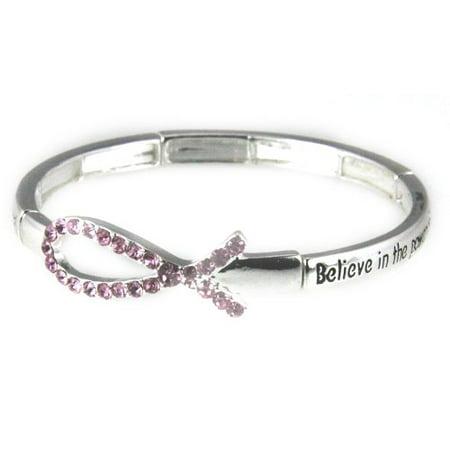 Breast Cancer Stretch Bracelet Awareness Christian Pink Ribbon](Breast Cancer Awareness Bracelets)