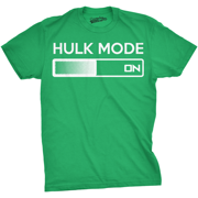 hulk mode on t shirt funny comic book super hero hilarious workout shirts (green) - s