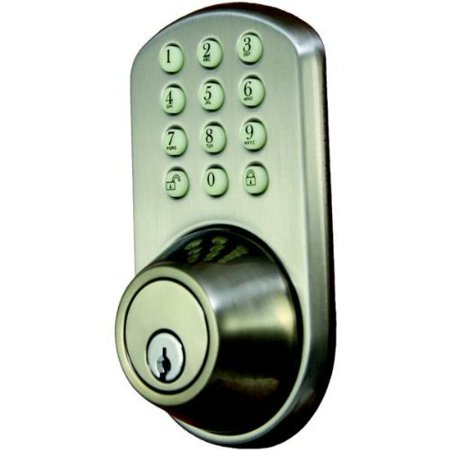 Morning Industry Inc Hf 01Sn Touchpad Electronic Dead Bolt  Satin Nickel   Hf01sn