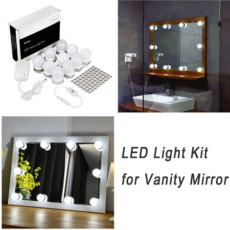 waneway hollywood style led vanity mirror light kit for makeup cosmetic dressing table with. Black Bedroom Furniture Sets. Home Design Ideas