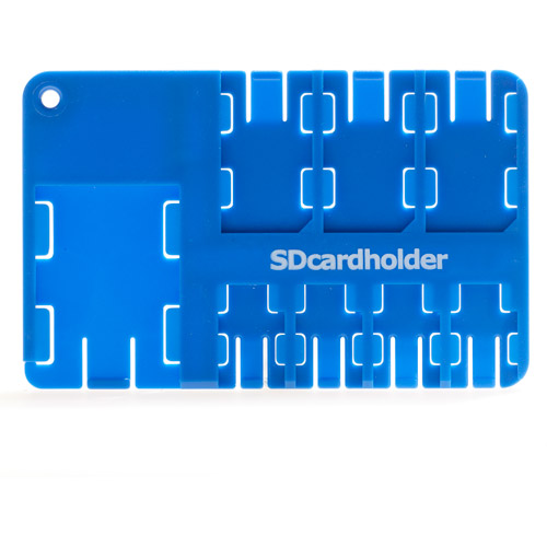 SD Cardholder Multi Card Holder, Blue