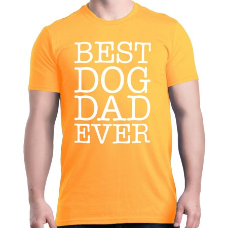 Shop4Ever Men's Best Dog Dad Ever Father's Day Graphic T-shirt](Father's Day Colors)