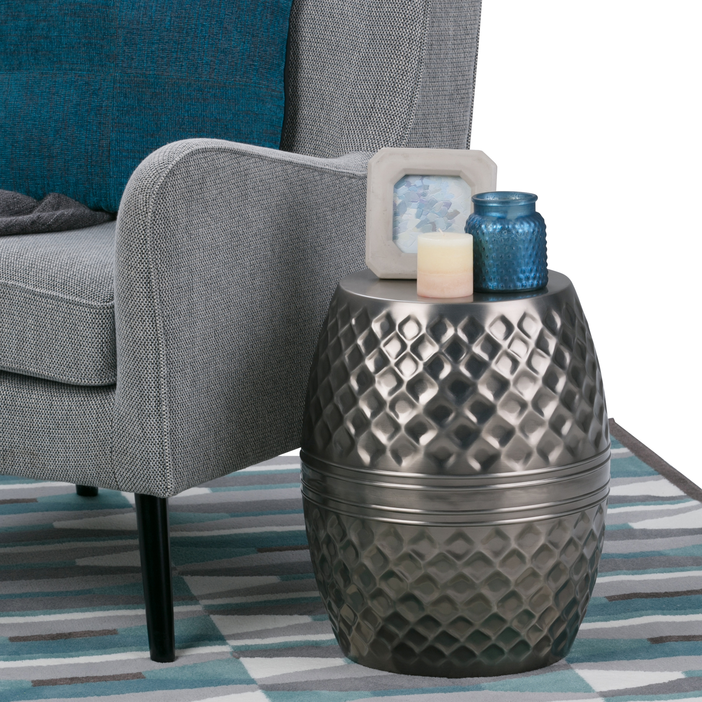 Simpli Home Ramey Metal Accent Table