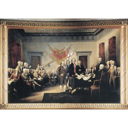 Congress Congress Semi Flush - Declaration Of Independence Nthe Signing Of The Declaration Of Independence In Congress At The Independence Hall Philadelphia 4 July 1776 Oil On Canvas By John Trumbull Rolled Canvas Art -  (24 x 36)