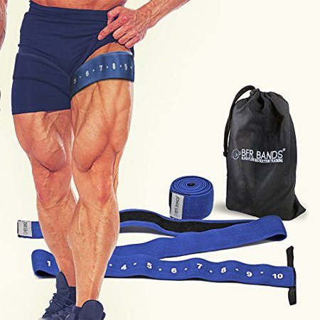 QUAD Wrap Occlusion Training Bands For Legs & Calves, 3 Inch Wide Knee Wrap Style Bands, Blood Flow Restriction Bands Give Lean & Fast Muscle Growth without Lifting Heavy Weights Dual Band Quad Band