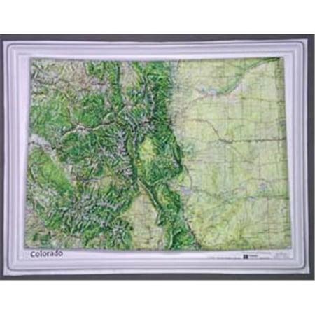 Hubbard Scientific Raised Relief Map K-CO2217 Colorado NCR -